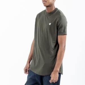 Tshirt manche courte ourlet kaki profil dcjeans