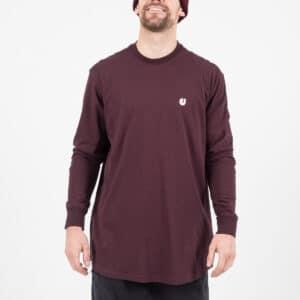 Tshirt manche longue prune face dcjeans